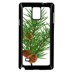 Branch Floral Green Nature Pine Samsung Galaxy Note 4 Case (black)