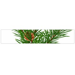 Branch Floral Green Nature Pine Flano Scarf (large)