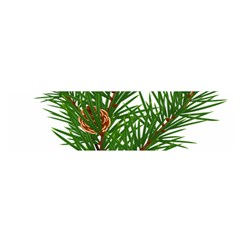 Branch Floral Green Nature Pine Satin Scarf (oblong)