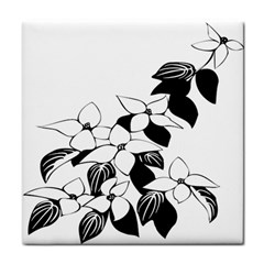Ecological Floral Flowers Leaf Tile Coasters