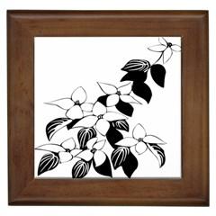 Ecological Floral Flowers Leaf Framed Tiles