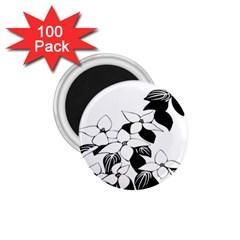Ecological Floral Flowers Leaf 1 75  Magnets (100 Pack)