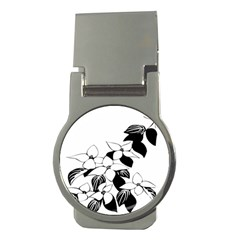 Ecological Floral Flowers Leaf Money Clips (round)