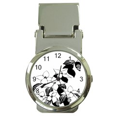 Ecological Floral Flowers Leaf Money Clip Watches