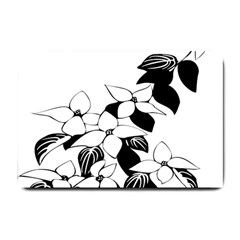 Ecological Floral Flowers Leaf Small Doormat