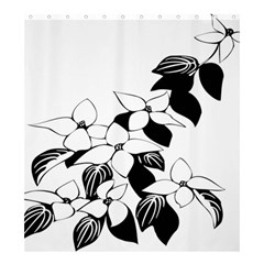 Ecological Floral Flowers Leaf Shower Curtain 66  X 72  (large)