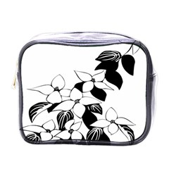 Ecological Floral Flowers Leaf Mini Toiletries Bags