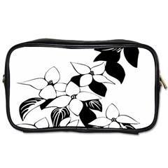 Ecological Floral Flowers Leaf Toiletries Bags