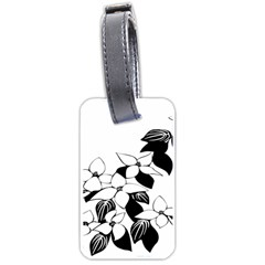 Ecological Floral Flowers Leaf Luggage Tags (two Sides)