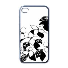 Ecological Floral Flowers Leaf Apple Iphone 4 Case (black)