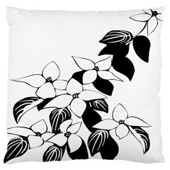 Ecological Floral Flowers Leaf Large Cushion Case (one Side)