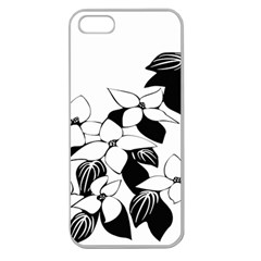 Ecological Floral Flowers Leaf Apple Seamless Iphone 5 Case (clear)