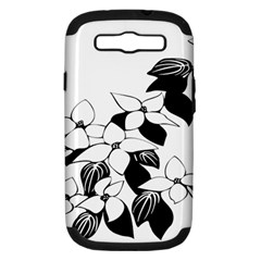 Ecological Floral Flowers Leaf Samsung Galaxy S Iii Hardshell Case (pc+silicone)