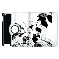 Ecological Floral Flowers Leaf Apple Ipad 3/4 Flip 360 Case