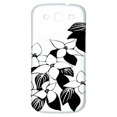 Ecological Floral Flowers Leaf Samsung Galaxy S3 S Iii Classic Hardshell Back Case