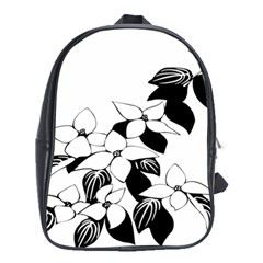 Ecological Floral Flowers Leaf School Bags (xl)