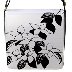 Ecological Floral Flowers Leaf Flap Messenger Bag (s)