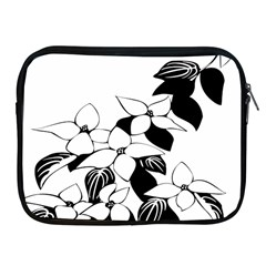 Ecological Floral Flowers Leaf Apple Ipad 2/3/4 Zipper Cases