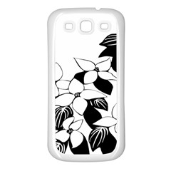 Ecological Floral Flowers Leaf Samsung Galaxy S3 Back Case (white)