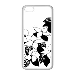 Ecological Floral Flowers Leaf Apple Iphone 5c Seamless Case (white)
