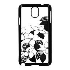 Ecological Floral Flowers Leaf Samsung Galaxy Note 3 Neo Hardshell Case (black)