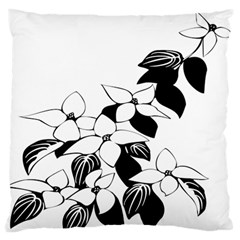Ecological Floral Flowers Leaf Large Flano Cushion Case (two Sides)