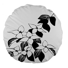 Ecological Floral Flowers Leaf Large 18  Premium Flano Round Cushions