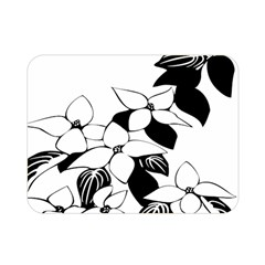 Ecological Floral Flowers Leaf Double Sided Flano Blanket (mini)