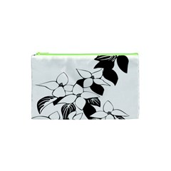 Ecological Floral Flowers Leaf Cosmetic Bag (xs)