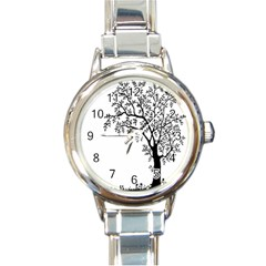 Flowers Landscape Nature Plant Round Italian Charm Watch