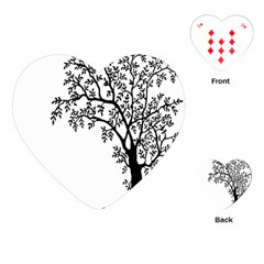 Flowers Landscape Nature Plant Playing Cards (heart)