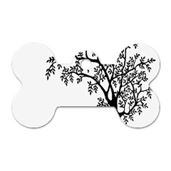 Flowers Landscape Nature Plant Dog Tag Bone (two Sides)
