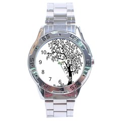 Flowers Landscape Nature Plant Stainless Steel Analogue Watch