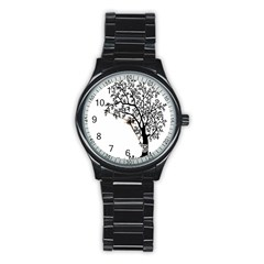 Flowers Landscape Nature Plant Stainless Steel Round Watch