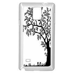 Flowers Landscape Nature Plant Samsung Galaxy Note 4 Case (white)