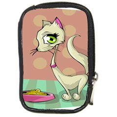 Cat Food Eating Breakfast Gourmet Compact Camera Cases