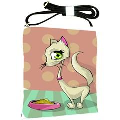 Cat Food Eating Breakfast Gourmet Shoulder Sling Bags