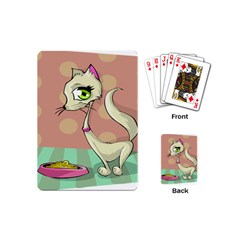 Cat Food Eating Breakfast Gourmet Playing Cards (mini)