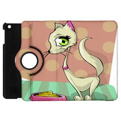 Cat Food Eating Breakfast Gourmet Apple Ipad Mini Flip 360 Case