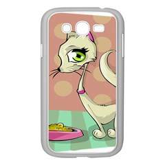 Cat Food Eating Breakfast Gourmet Samsung Galaxy Grand Duos I9082 Case (white)