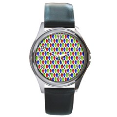 Colorful Shiny Eat Edible Food Round Metal Watch