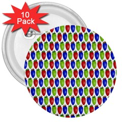 Colorful Shiny Eat Edible Food 3  Buttons (10 Pack)