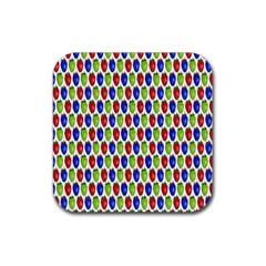 Colorful Shiny Eat Edible Food Rubber Square Coaster (4 Pack)