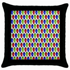 Colorful Shiny Eat Edible Food Throw Pillow Case (black)