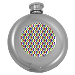 Colorful Shiny Eat Edible Food Round Hip Flask (5 Oz)