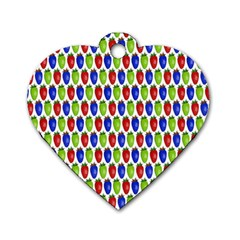 Colorful Shiny Eat Edible Food Dog Tag Heart (one Side)