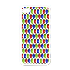 Colorful Shiny Eat Edible Food Apple Iphone 4 Case (white)