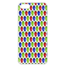 Colorful Shiny Eat Edible Food Apple Iphone 5 Seamless Case (white)