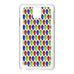 Colorful Shiny Eat Edible Food Samsung Galaxy Note 3 N9005 Case (white)