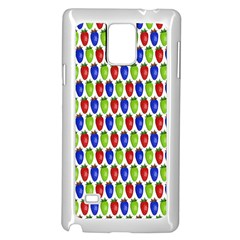 Colorful Shiny Eat Edible Food Samsung Galaxy Note 4 Case (white)
